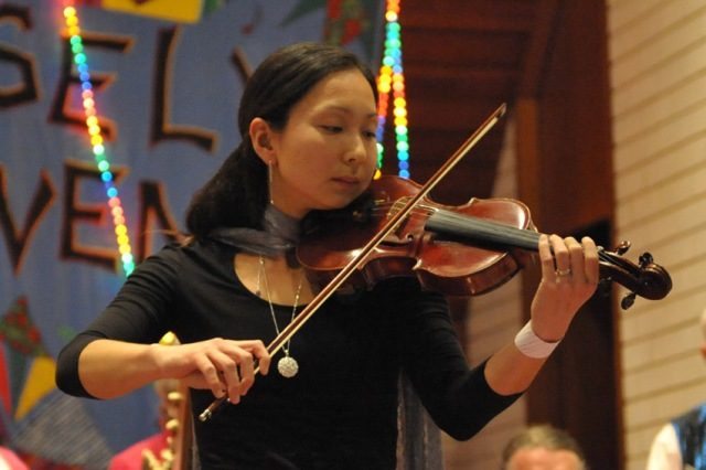 Talented Violinist Kazu Milne will be playing with LW